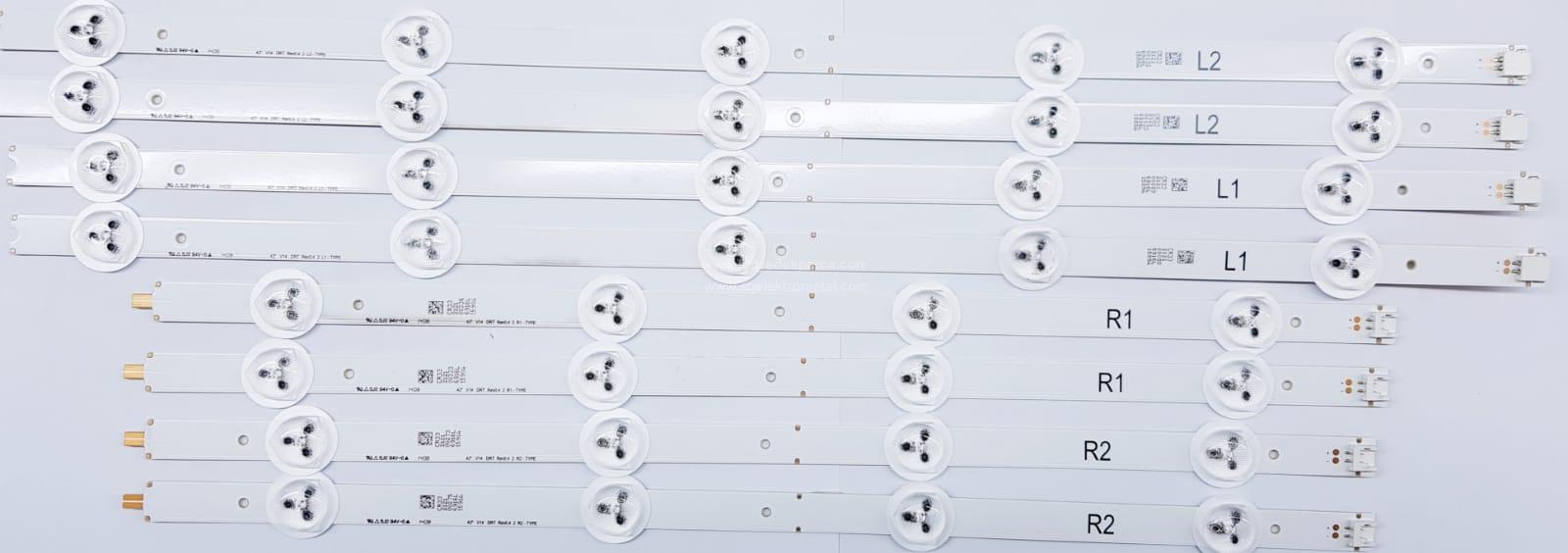 42 V14 DRT REV0.4 2 R2-TYPE , 42 V14 DRT REV0.4 R1-TYPE , 42PFK6309 , LC420DUN PG A1 , 8 ADET LED ÇUBUK