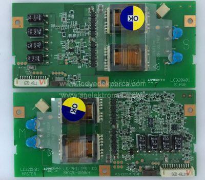 6632L-0066A MASTER , 6632L-0067A SLAVE , KLS-EE32-M REV09 , LC320W01 A6 , Inverter Board