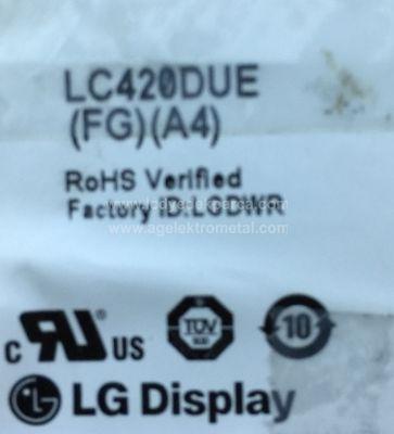 LG , LC420DUE FG A4 , 42LB580V , 6916L-1709A , 6916L-1710A , 8 ADET LED ÇUBUK