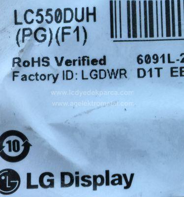 LG , LC550DUH PG F1 , 55LB670V , 55 V14 SLIM DRT REV0.0 , 6916L-1741A , 6916L-1743A , 6916L-1629A , 6916L-1630A , 12 ADET LED ÇUBUK