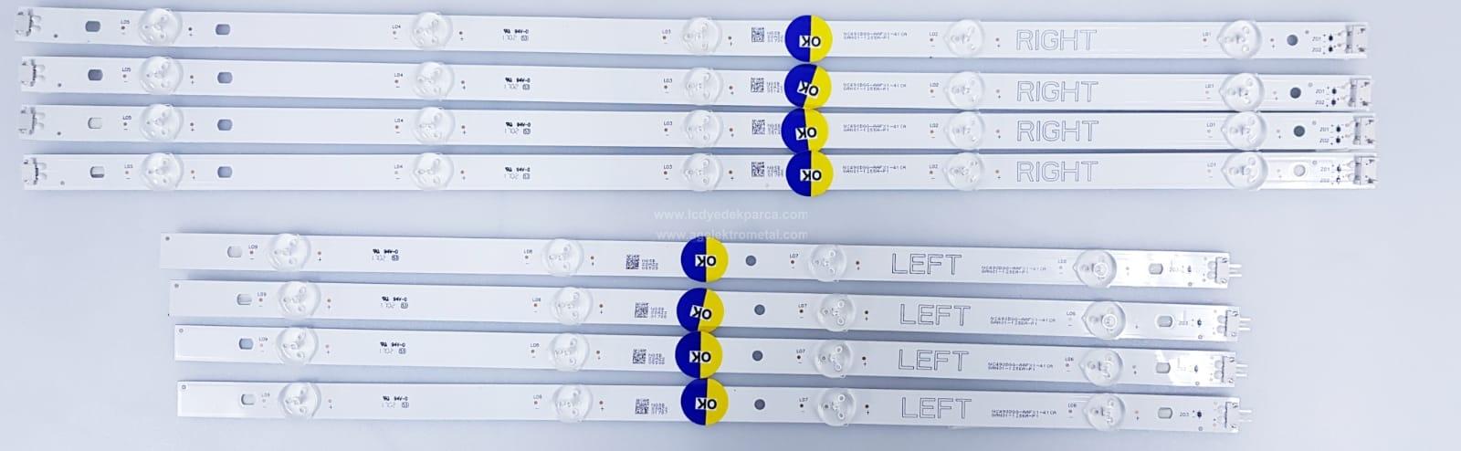 NC490DGG-AAFX1-41CA , GAN01-1255A-P1 , GAN01-1256A-P1 , LG , 49UJ630 , NC490DGG , 8 ADET LED ÇUBUK