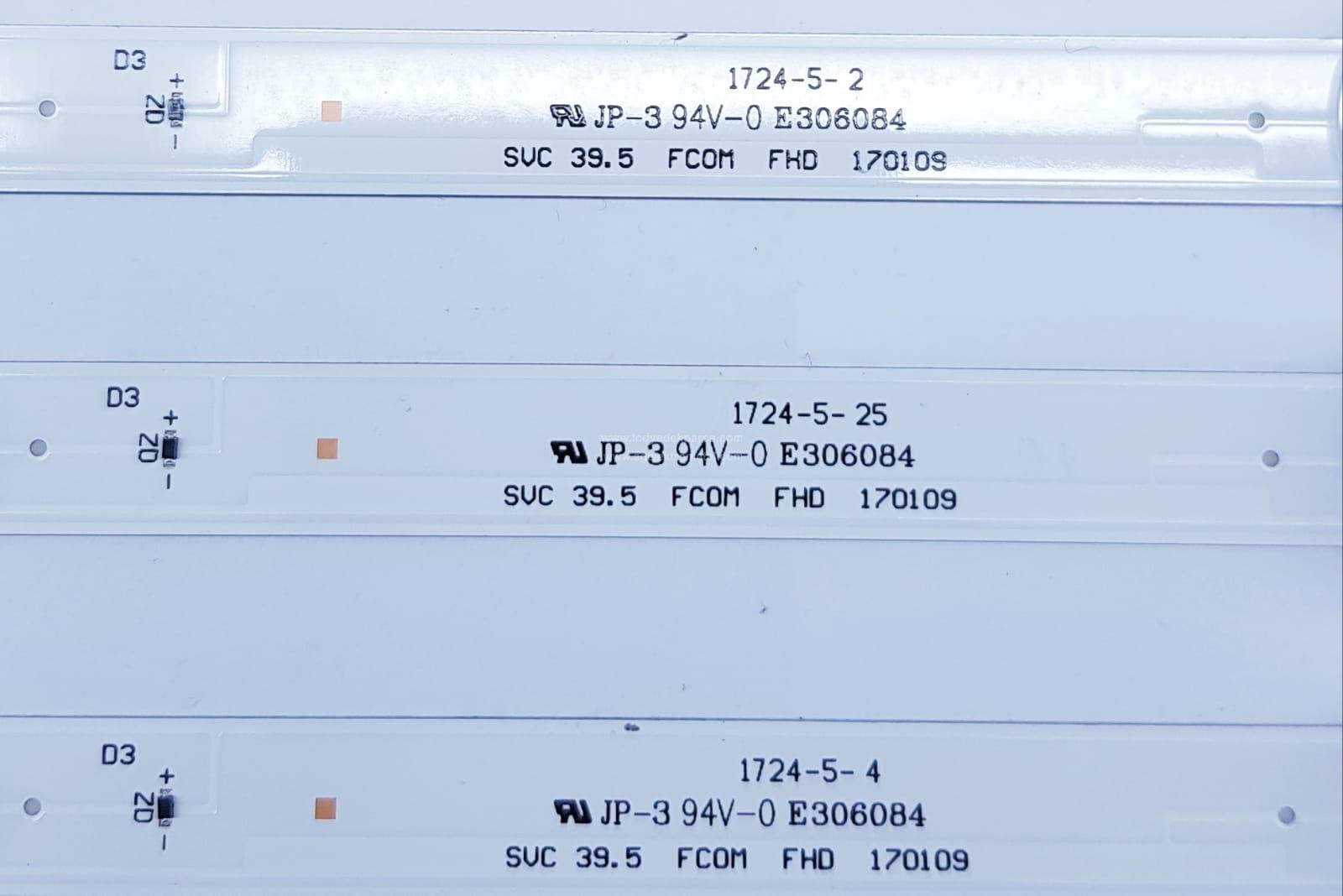SVC 39.5 FCOM FHD 170109 , SAMSUNG , UE40J5270 , BN95-04268 , CY-JM040BGNV5V , CY-JM040BGNV2V , UE40M5000 , 3 ADET LED ÇUBUK